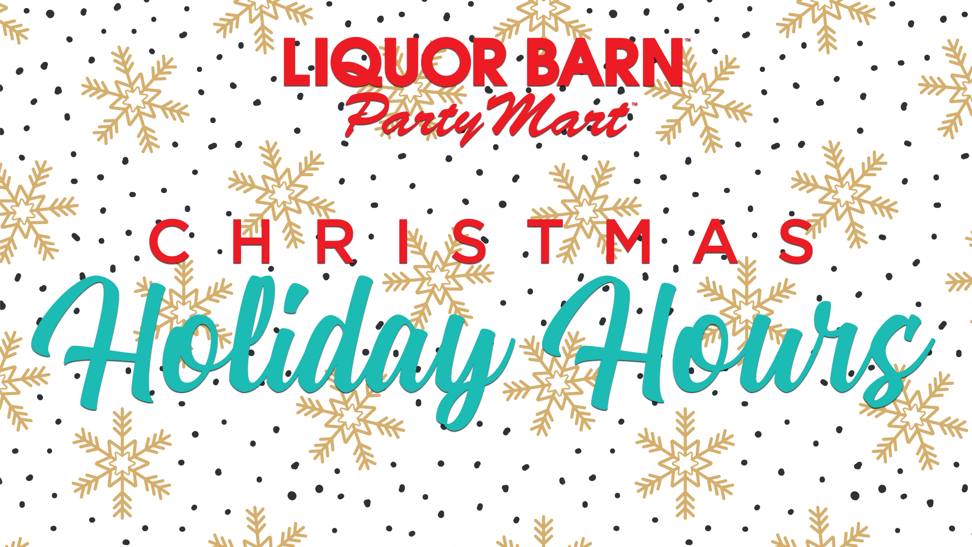 Liquor Barn and Party Mart Holiday Hours